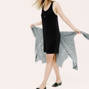 Lou & Grey Racerback Knit Panel Mini Dress